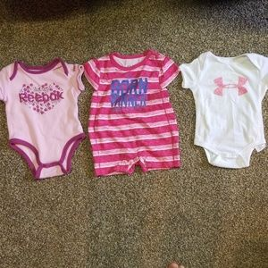 Under Armour and Reebok Onesies
